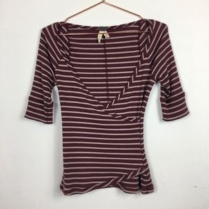 We The Free Stripped Burgundy XS IN#K4